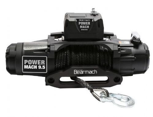 Bearmach Power Mach 9,500lb 12v Two Speed Winch with 9mmx27m Synthetic Rope & Wireless Remote